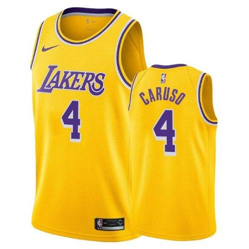 גופיית NBA לוס אנג'לס לייקרס צהובה 20/21 - #4 Alex Caruso
