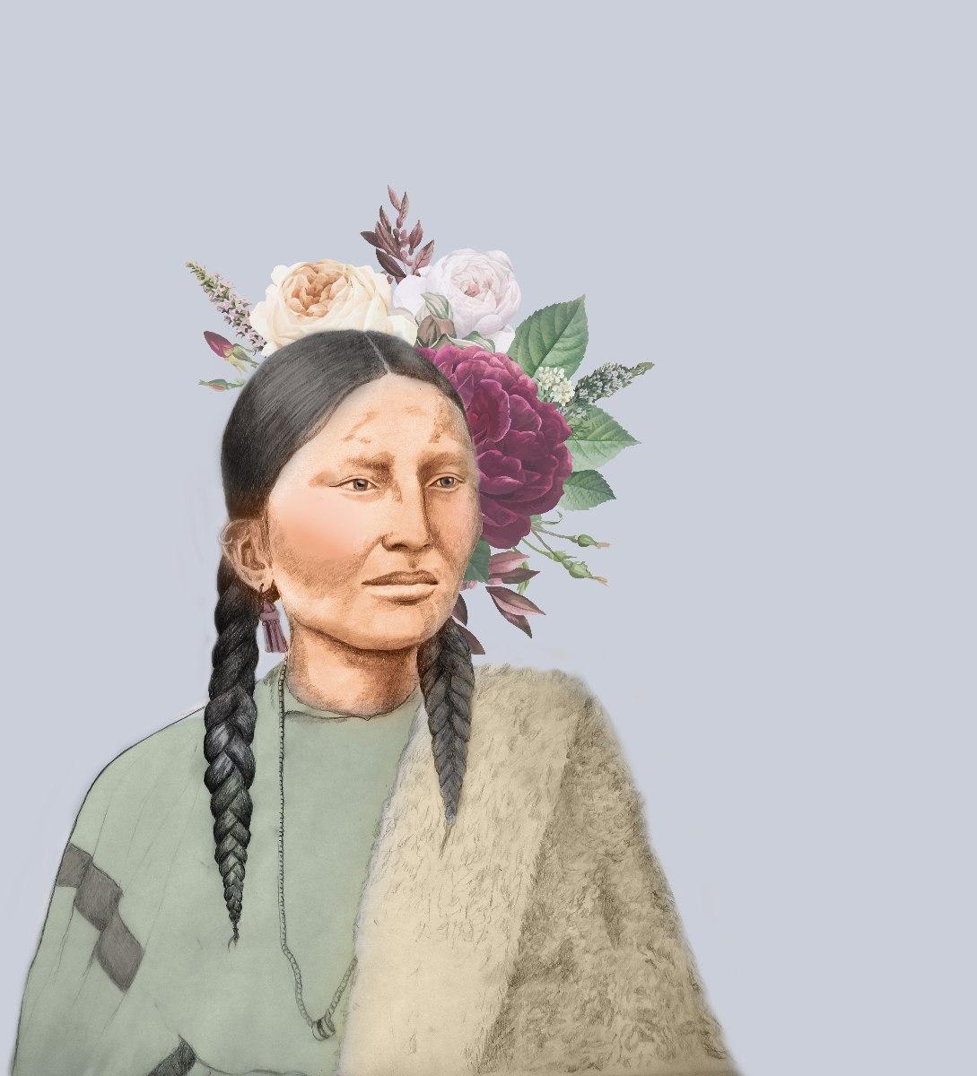 הדפס ציור נייר - הלוחמת האינדיאנית פריטינוז