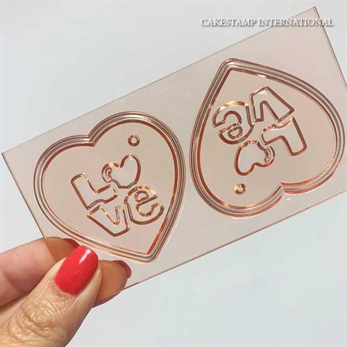 תבנית 2 לבבות אהבה קטנים ליצירה | לבבות לטו' באב| עוגות אהבה | קישוט שוקולד | חדש אתי דבש
