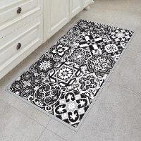 שטיח פי.וי.סי אקלקטי שחור לבן  TIVA DESIGN קיים בגדלים שונים