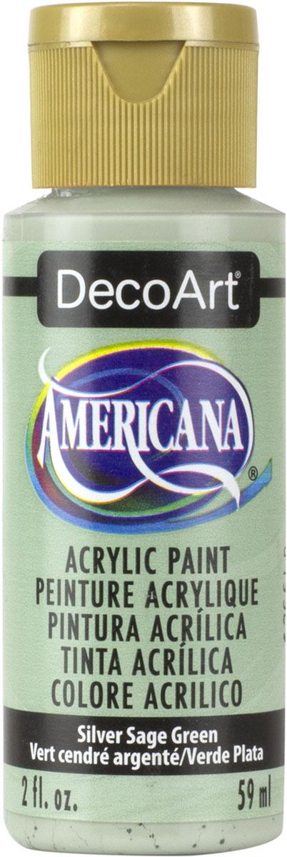"""צבע אמריקנה 59 מ""""ל silver sage green DA149"""