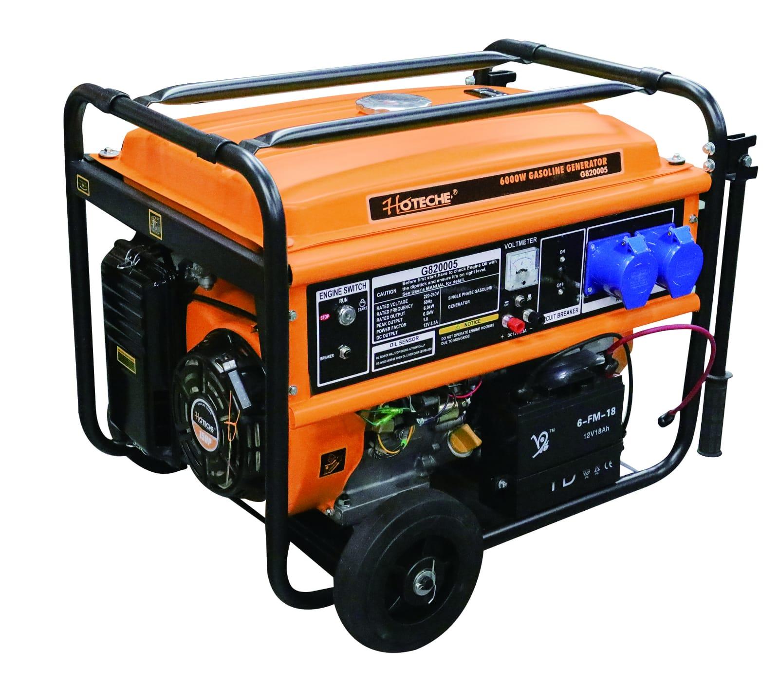 גנרטור 6000W מנוע בנזין מבית חברת HOTECHE