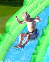 מתקן קפיצה ומים מגלשת המים קרוקודיל הפי הופ - 9517 - The Crocodile Water Slide Happy Hop