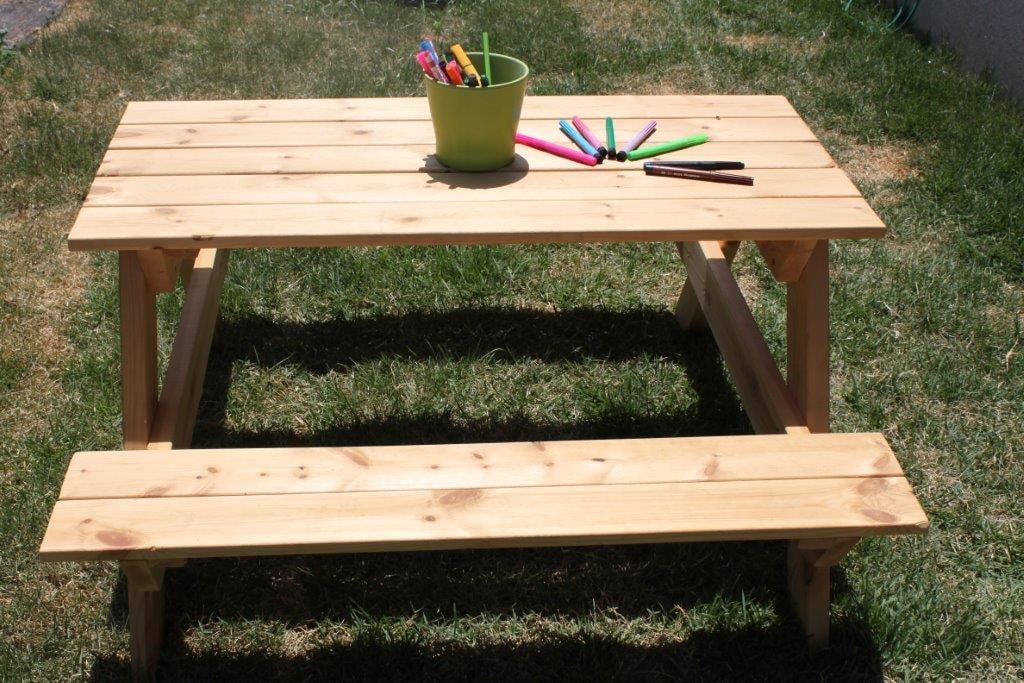 שולחן קקל ילדים טבעי