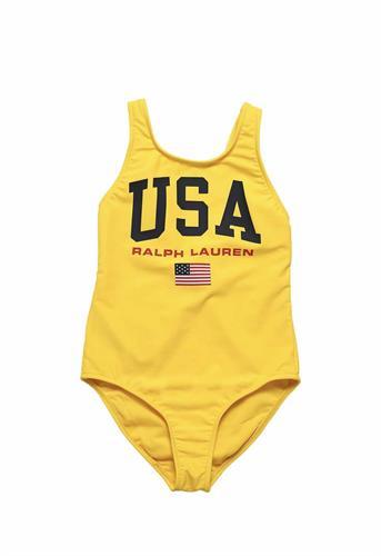 בגד ים שלם USA צהוב