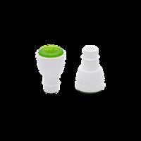 זוג פקקים לבקבוקים לסגירה בוואקום - צבע ירוק