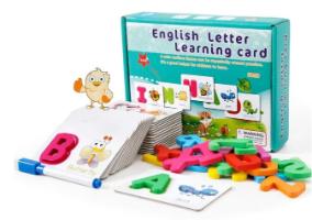 כרטיסיות משחק ללימוד אנגלית