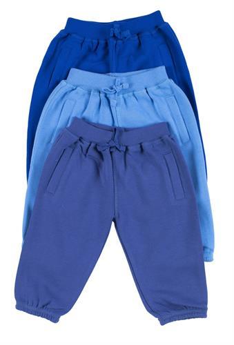 שלישיית מכנסי פוטר כחול רויאל-תכלת-כחול