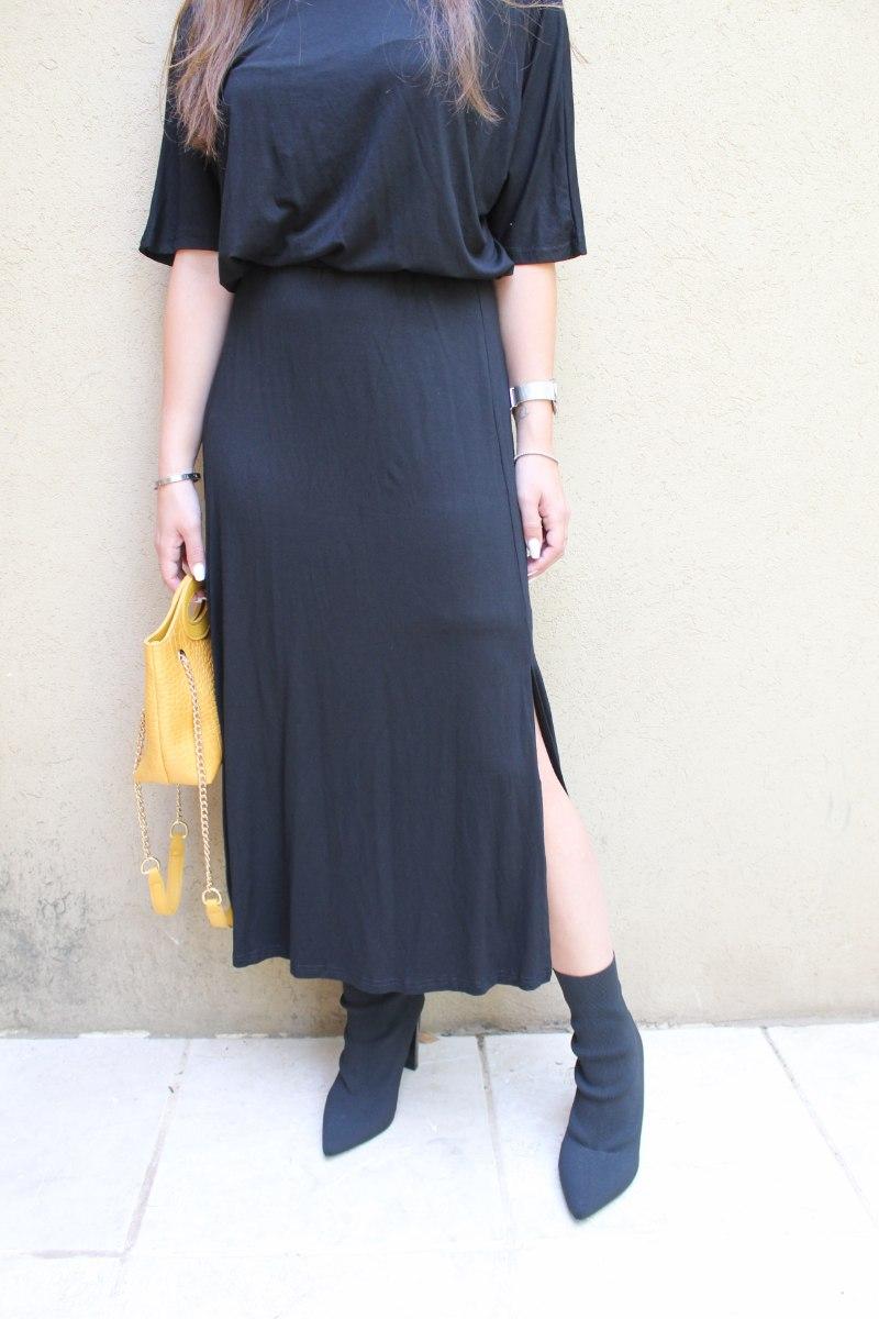 חצאית מקסי מולי שחורה