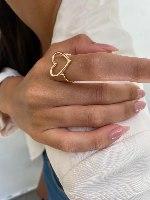 טבעת לב זהב 14 קראט