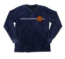 SANTA CRUZ Classic Dot LS Regular T-Shirt Mineral Navy Sm Mens
