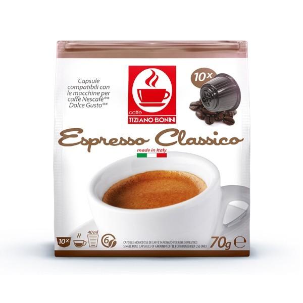 16 קפסולות קפה בוניני CLASSICO תואם דולצ'ה גוסטו - חוזק 6