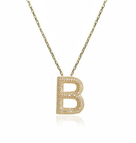 שרשרת זהב אות B|שרשרת זהב אות באנגלית