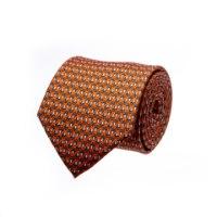 עניבה דגם מיקרופון כתום