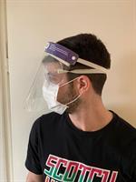 מסכת הגנה רב פעמית נגד התזה PVC להגנה על הפנים SPLASH PROTECT