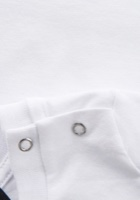 DSQ2 חולצה לבנה לוגו שחור לתינוק מידות 3-36 חודשים