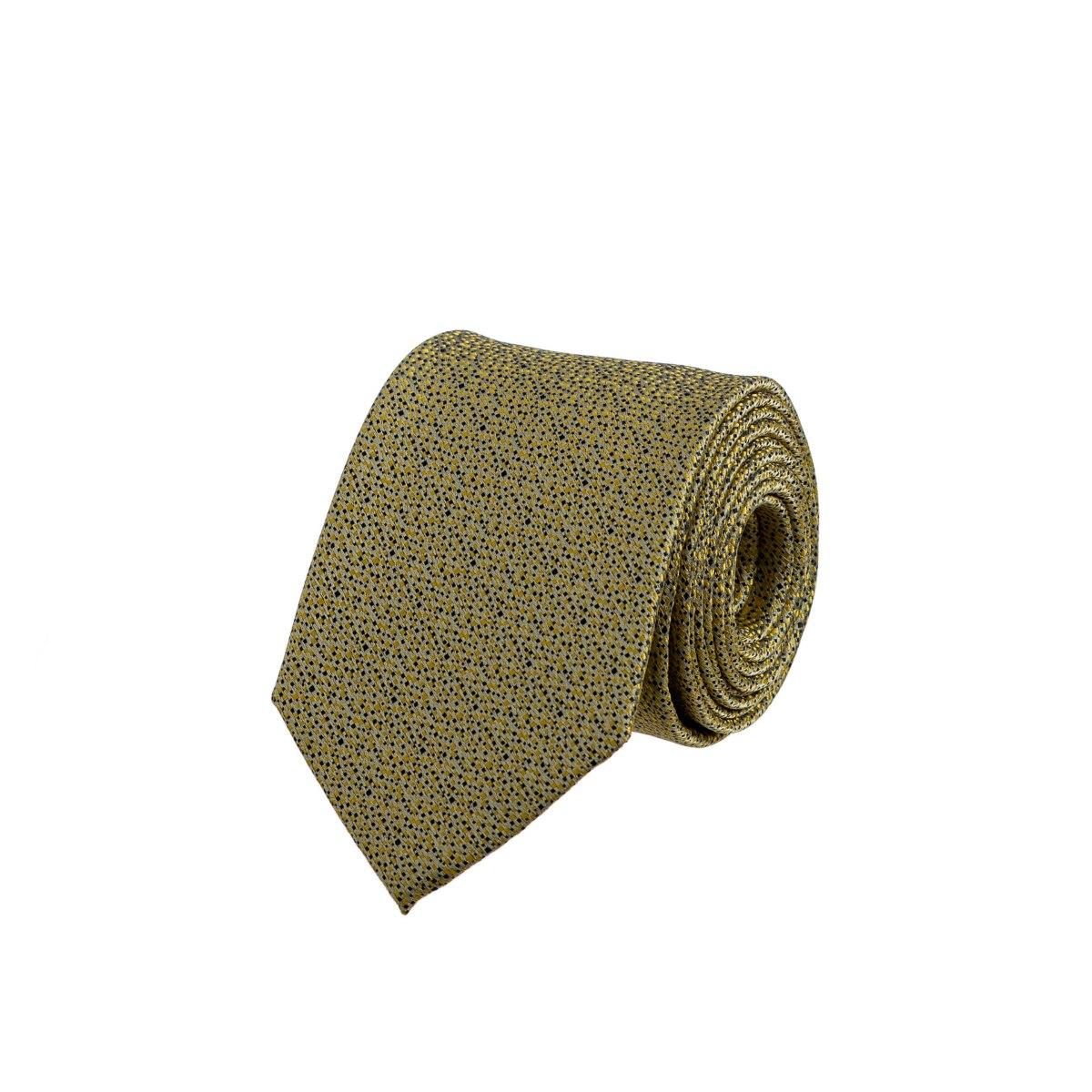 עניבה שלג צהוב - כחול