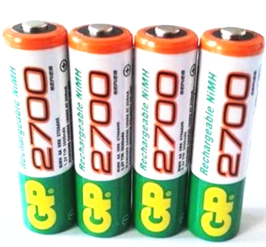 GP AA Rechargeable 2700mAh 4pck-סוללות נטענות