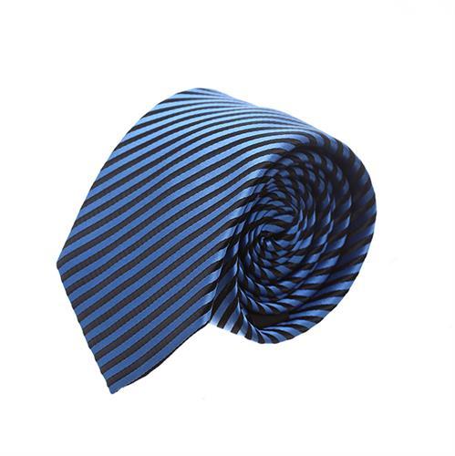 עניבה פסים דקים כחול