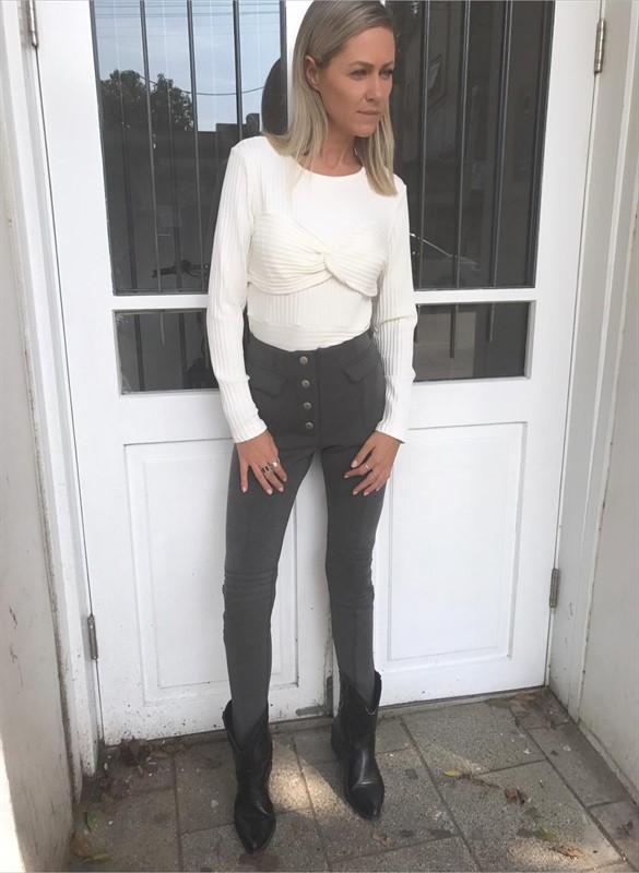 חולצת סלין לבנה