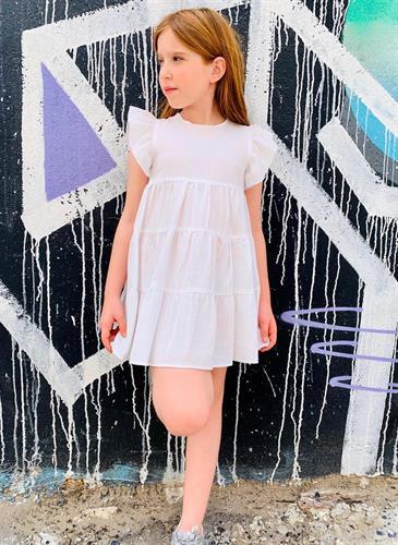 שמלת קומות לבנה