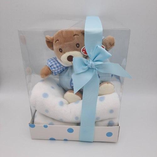 דובי עם  שמיכה קטיפתית מפנקת