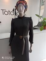 שמלת סרנה סופר קלאס שחורה