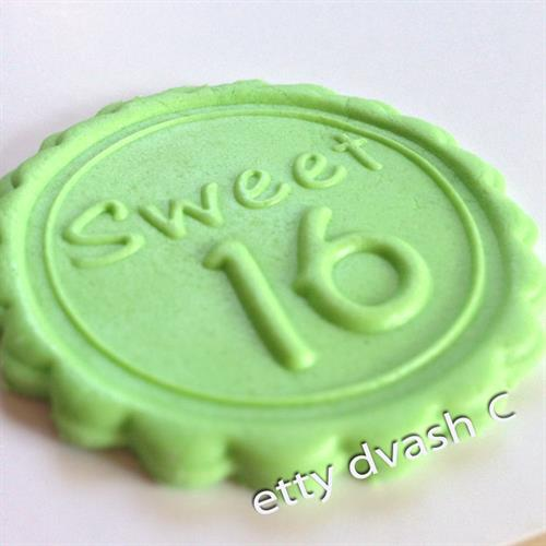 sweet 16 embossed stamp