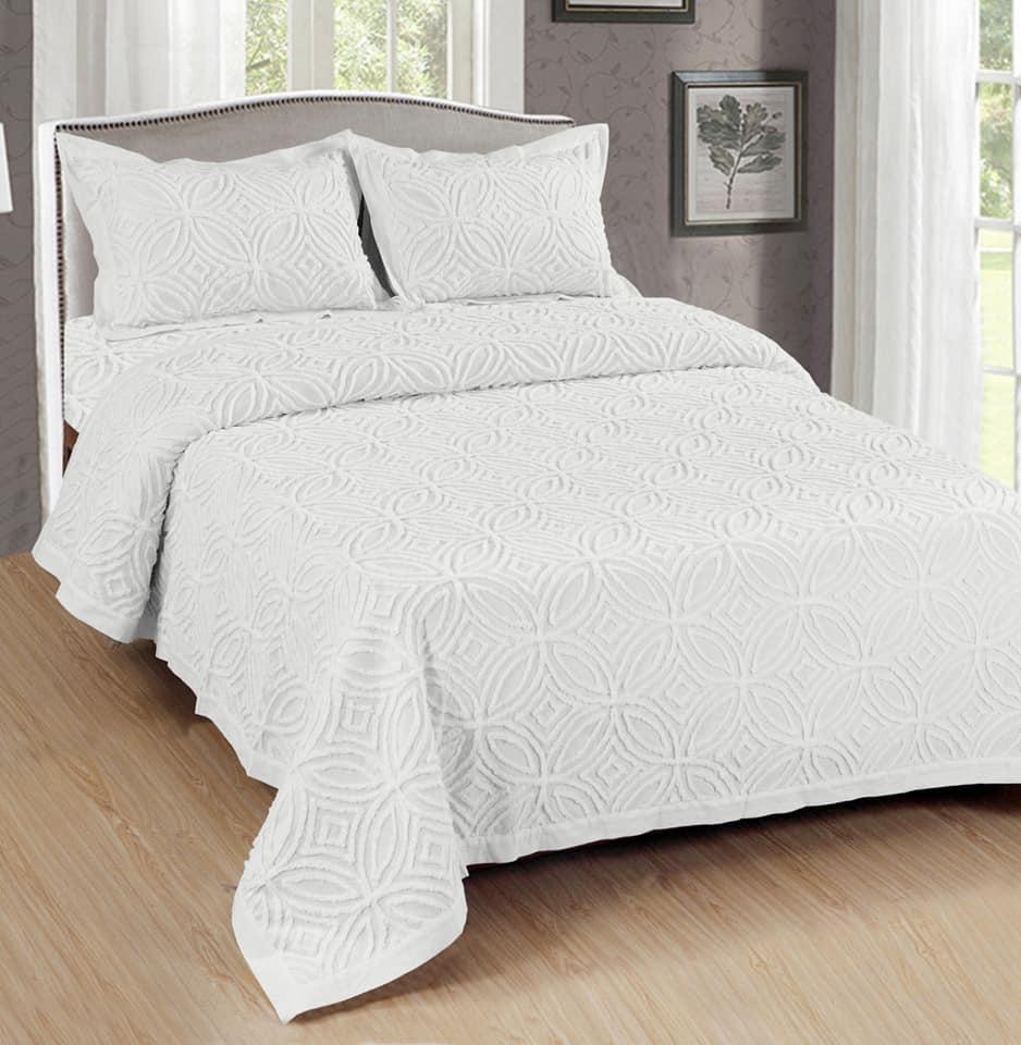 כסוי מיטה יחיד מהודר ב3 צבעים 100% כותנה 160/220