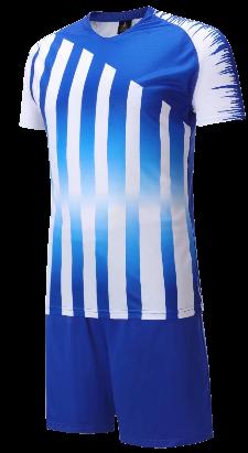 חליפת כדורגל כחול לבן פסים