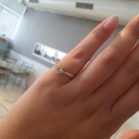 טבעת אירוסין מיוחדת 0.25 קראט זהב 14 קראט