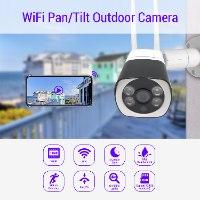 מצלמת IP אלחוטית חיצונית 1080P , חיבור מהיר, ראיית לילה, 2 אנטנות Dynamode