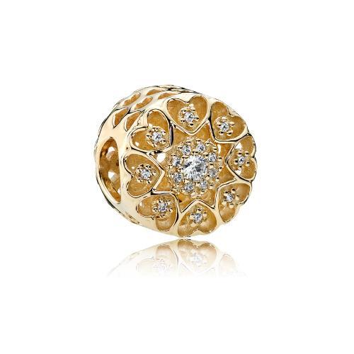 צ'ארם לבבות של זהב 750841CZ