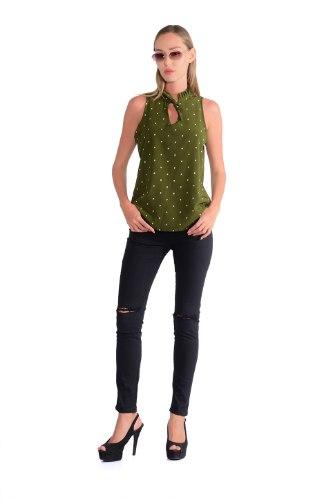 חולצת קייטלין ירוק כהה