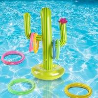משחק זריקת טבעות צף לבריכה - קטקטוס מתנפח