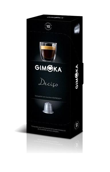 10 קפסולות למכונות נספרסו ג'ימוקה Gimoka Italy Deciso