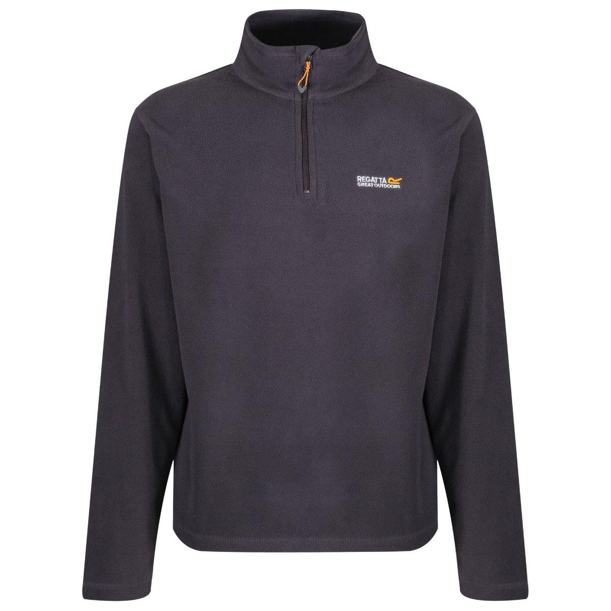 חולצת מיקרופליז גברים דגם Thompson אפורה מבית מותג אופנת המטיילים הבריטית Regatta Great Outdoors