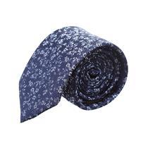 עניבה פרחים קטנים על רקע כחול