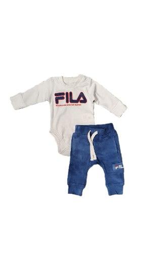 סט מעבר תינוקות בגד גוף מכנס FILA