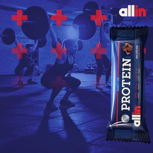 זוג מיקס חטיפי חלבון-All-in Build.it 100 Protein Bar