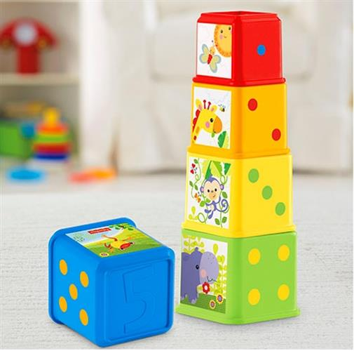 מגדל קוביות קלאסי - Fisher price