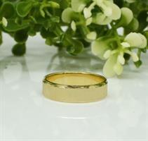 טבעת נישואין קלאסית מאט ומבריק מזהב 14 קאראט- דגם M94