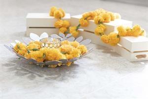 באנדל 5 שרשראות פרחים צהובים
