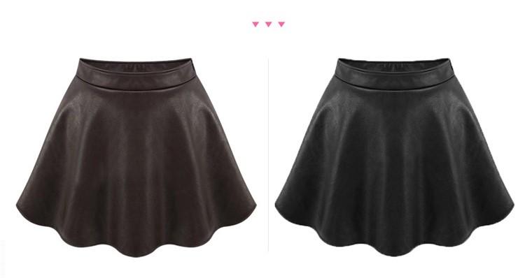 חצאית מיני סופר סקסית דמוי עור