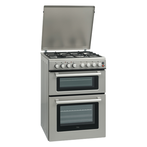 תנור משולב גז/חשמל TELSA דגם: TS 6912 לבן/נירוסטה