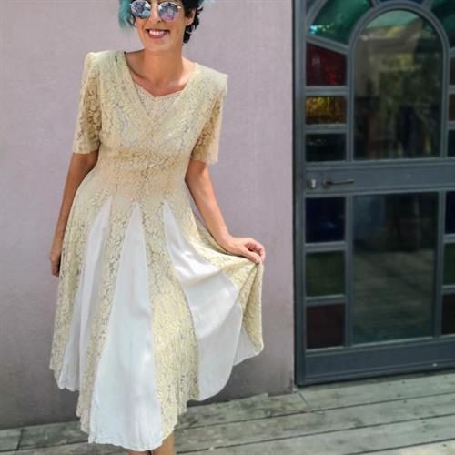 שמלת מידי משגעת שנות ה-80 מידה M/L