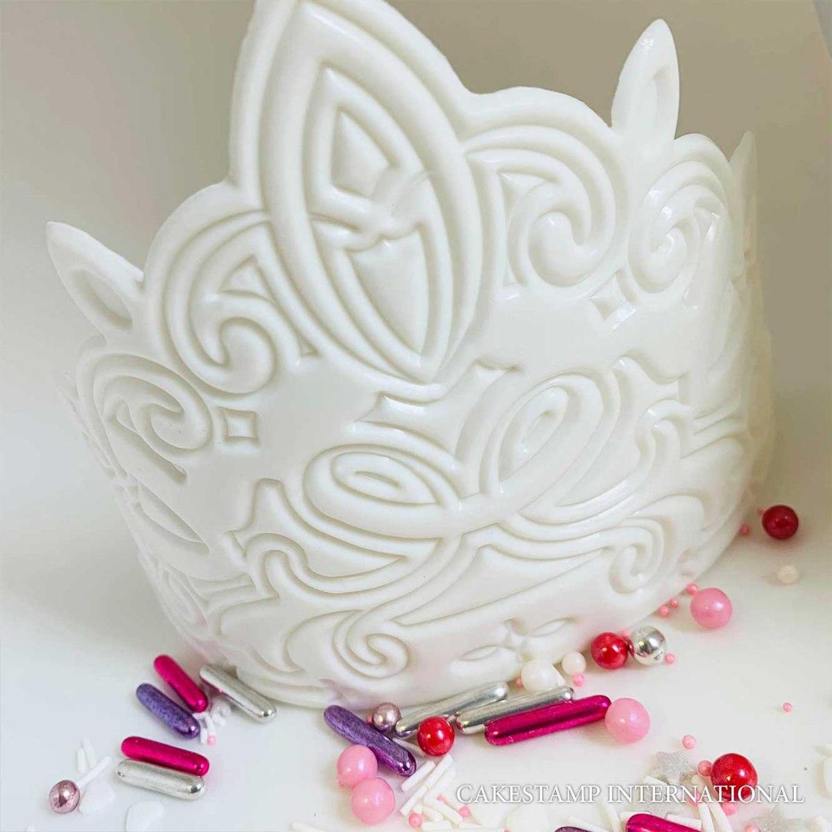 MARRAKESH CROWN Chocolate mold | Crown DIY Sugar Craft Fondant Chocolate Mold Decorating Tools