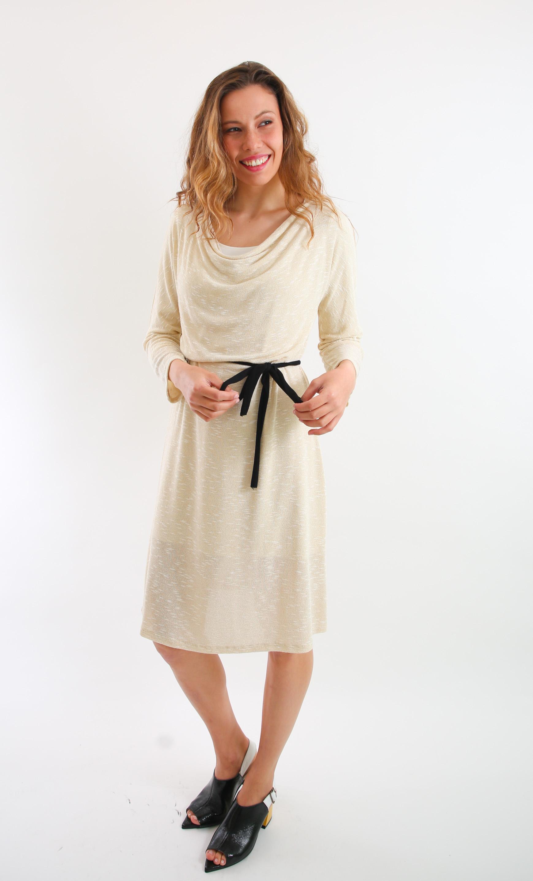 שמלת מאיה שמנת