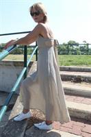 שמלת דוטי נקודות ירוקה