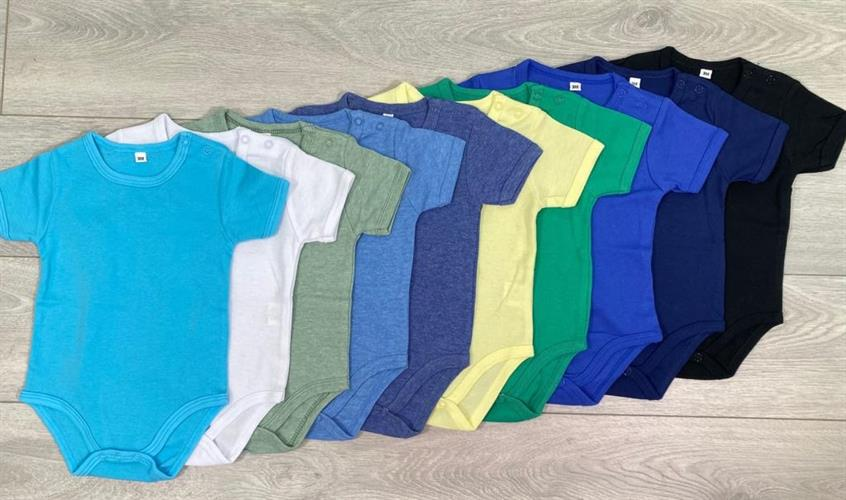 10 בגדי גוף קצרים כחולים